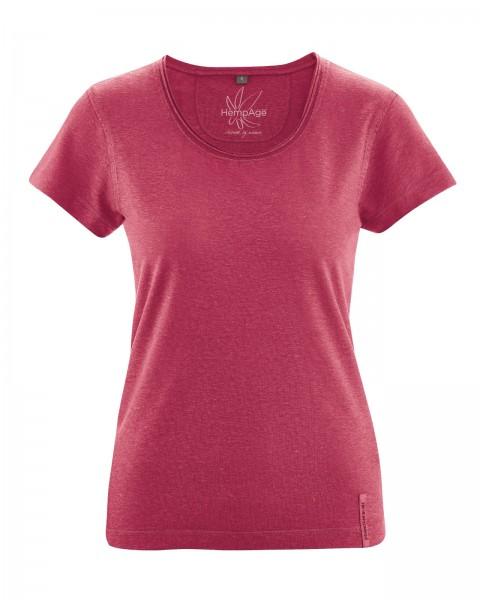 Klassisches Basic T-Shirt mit eingerolltem Kragen