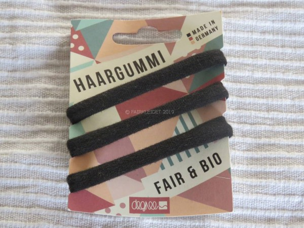 Degree Fair Hair Haargummi 3 Stück | schwarz