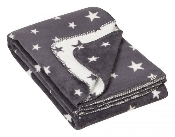 Decke mit Sternen - Wohndecke Bio Baumwolle - Bio Wohndecke - flauschig weich