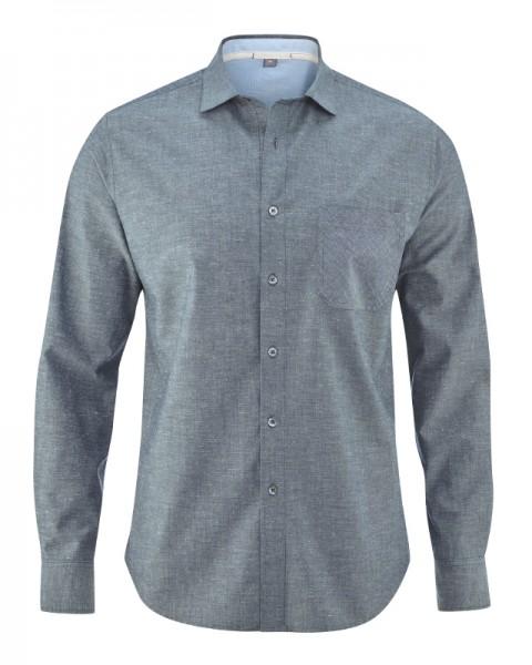 HempAge Herren Hemd graphit grey aus Bio Baumwolle und Hanf