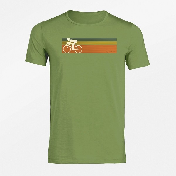 Herren Rundhals Bio T-Shirt Bike Speed
