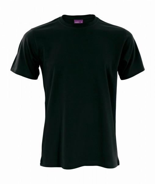 Bio T-Shirt mit Rundhalsausschnitt in schwarz