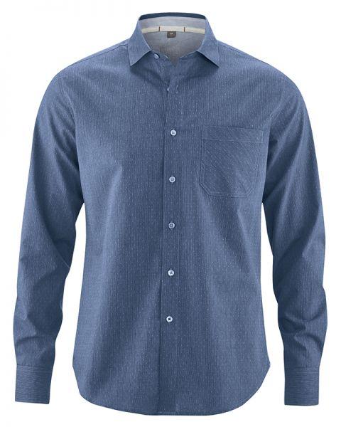 HempAge Herren Hemd aus Bio Baumwolle und Hanf - farbe Ink