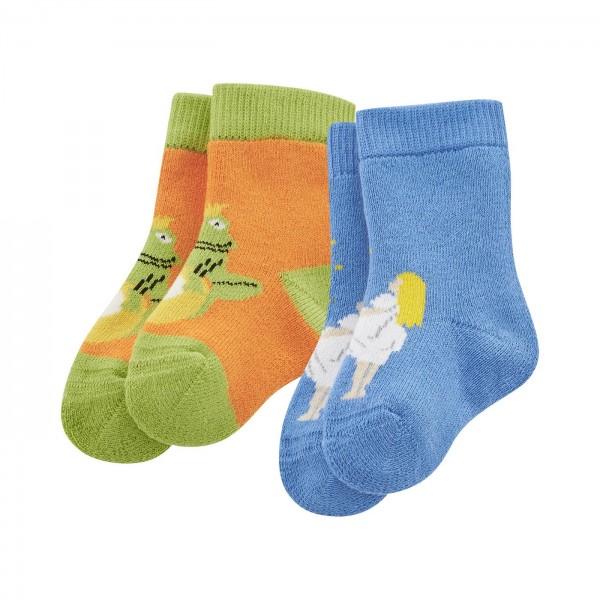 2er Pack Dumbo Babysocken aus Biobaumwolle mit lustigen Motiven