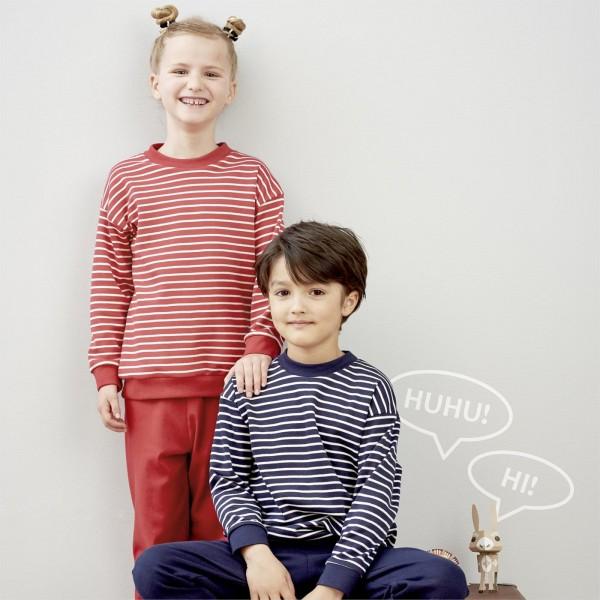 Kinder Bio Schlafanzug in blau