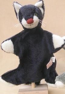 Bio Handpuppe Katze - Natürlich & Fair ca. 30 cm groß