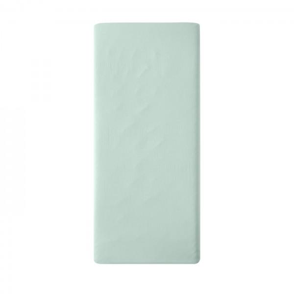 Spannbettlaken aus Biobaumwoll-Satin 100x200 oder 160x200, Farbe: mint