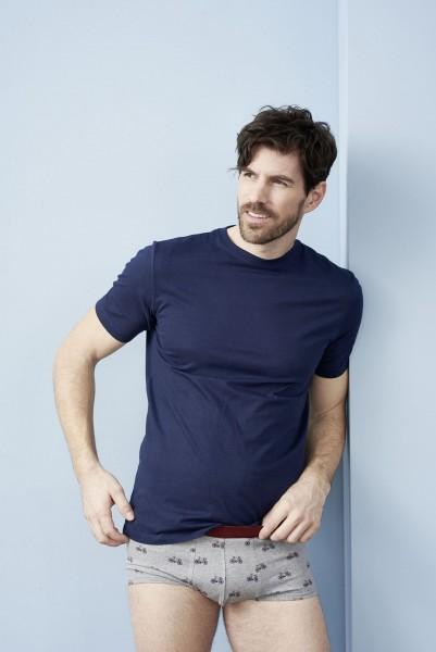 Bio T-Shirt mit Rundhalsausschnitt in dunkelblau