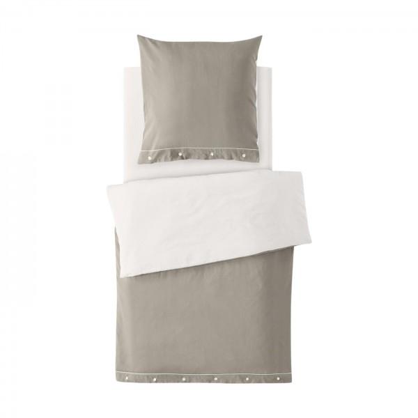 2-teiliges Bettwäscheset (Kissen und Bezug) aus Bio-Baumwoll-Satin Farbe Cashmere
