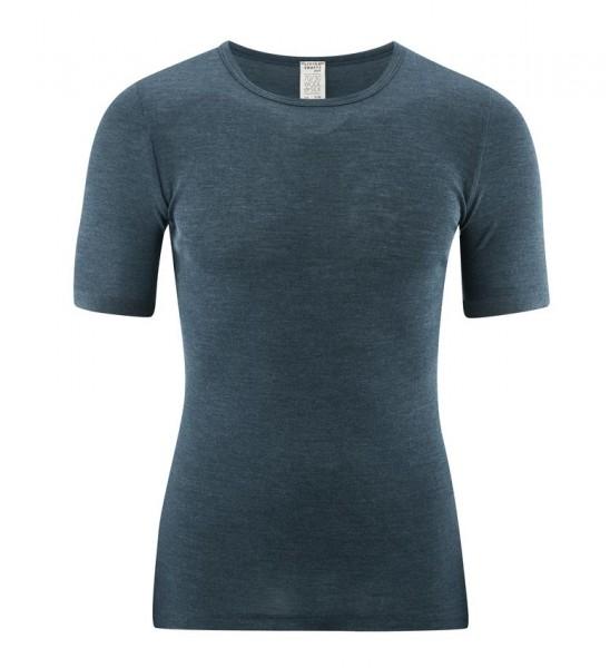 Herren Kurzarmshirt / Unterhemd aus Wolle Seide