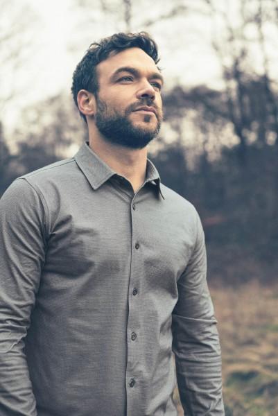 HempAge Feingemustertes Jerseyhemd aus Hanf und Biobaumwolle