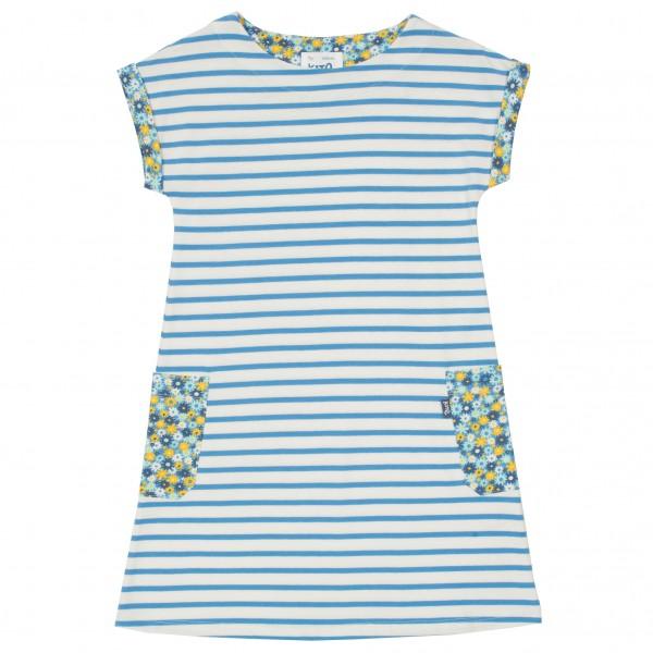 Kinderkleid mit Streifen aus feinem Bio-Baumwolle Jersey