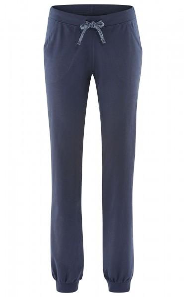 Relax Hose aus Biobaumwolle in bordeaux oder blau