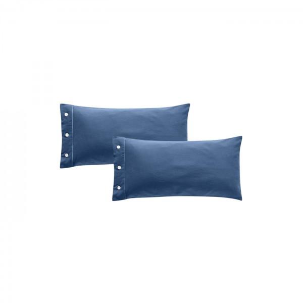 Kissenbezug Bio Baumwolle 40x80cm blau