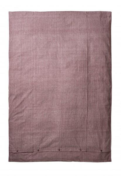 Bettbezug aus Bio Baumwolle - Farbe Merlot - 135cm x 200cm