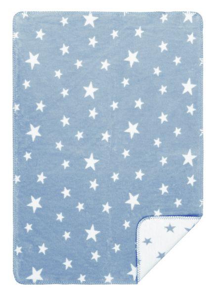 Babydekcke mit Sternen aus Bio Baumwolle - Wohndecke Bio Baumwolle