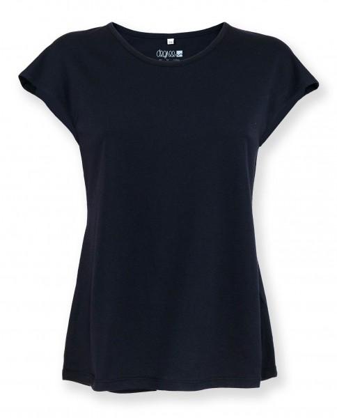 Damen Shirt aus Bio Baumwolle und Modal schwarz