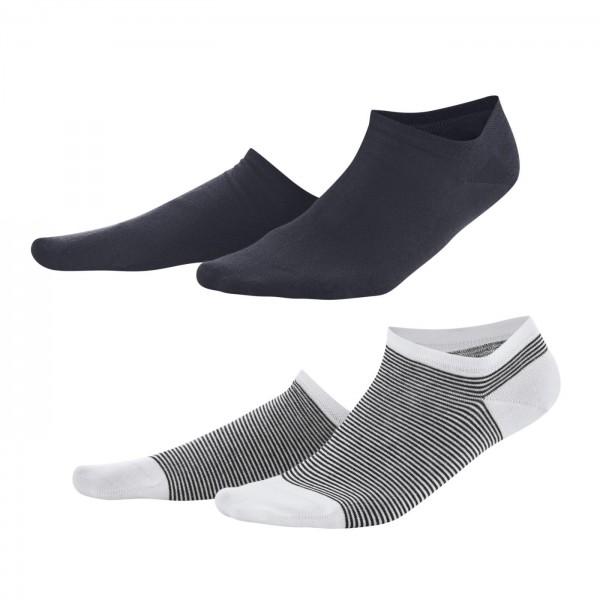Sneakersocke Abby im 2er Pack Stone navy/white