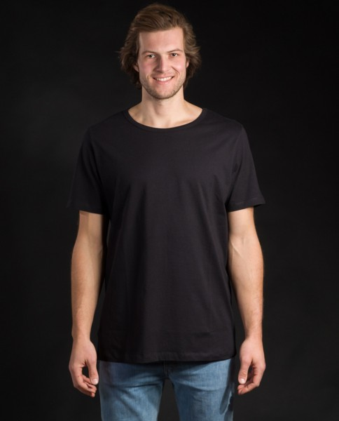 Herren T-Shirt aus Bio Baumwolle in schwarz