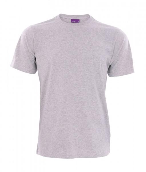 Bio T-Shirt mit Rundhalsausschnitt in grau