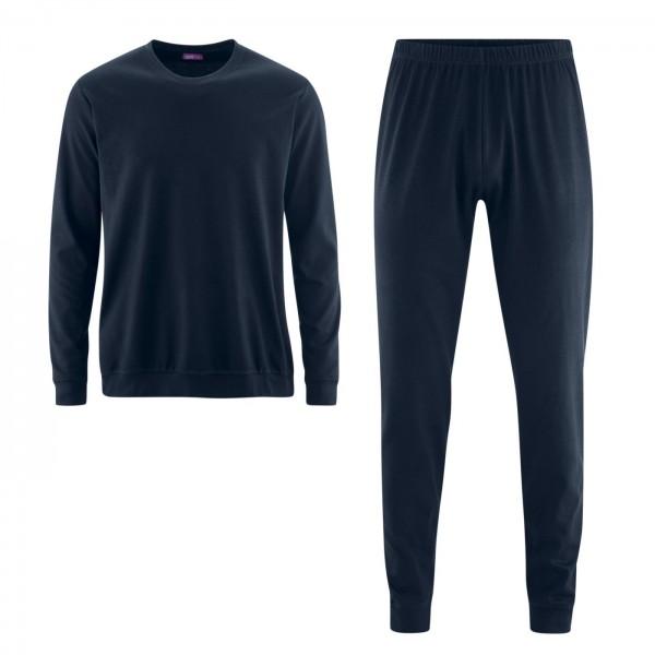 Living Crafts Herren Schlafanzug blau