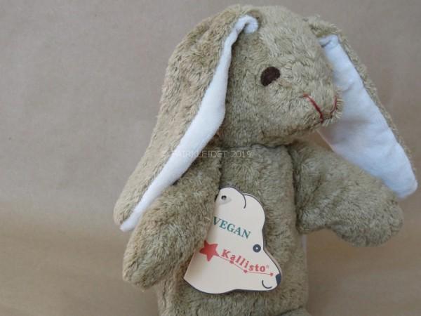 Süßer Kuscheltier Hase in braun mit gestickten Augen - ideal für Dein Baby