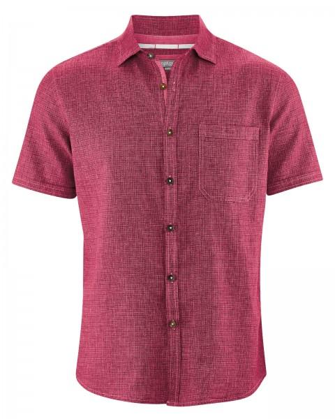 HempAge Kariertes Kurzarm Hemd aus Hanf und Bio-Baumwolle