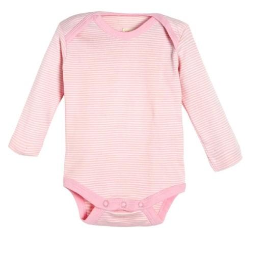 Baby Body aus Biobaumwolle mit langem Arm - uni oder gestreift