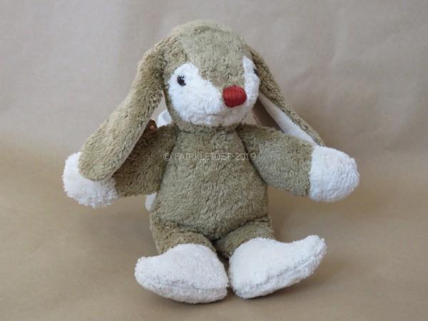 Stofftier Hase mit roter Nase - ca. 30cm groß - Bio, vegan & Fair
