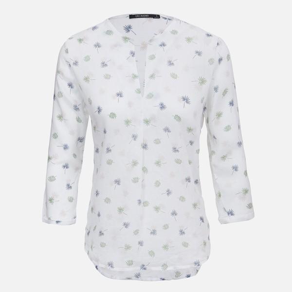 GREENBOMB 3/4 Arm Damen Blusenshirt mit floralem Motiv