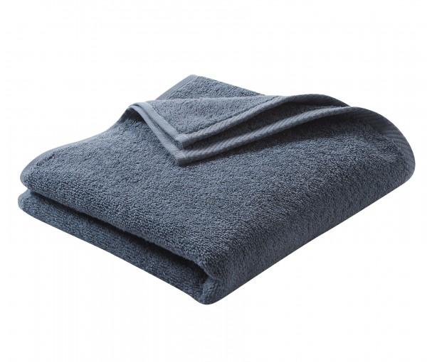 Frottee Handtuch aus reiner Biobaumwolle - Farbe Blau
