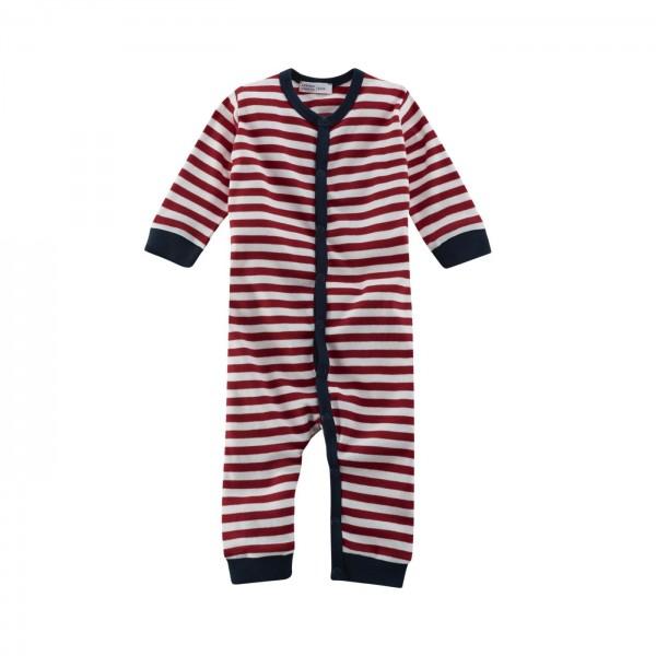 Baby Ganzjahresschlafanzug mit weichen Strickbündchen und Designstreifen