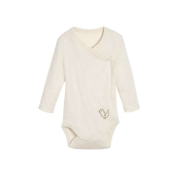 Baby Wickelbody Langarm aus feiner Biobaumwolle in verschiedenen Designs