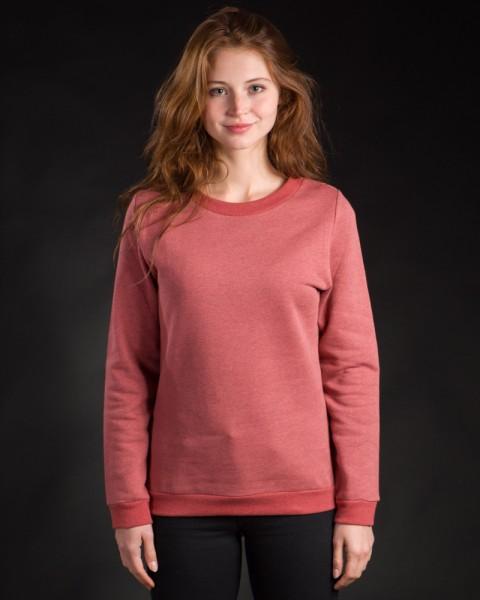 Damen Pullover classic rot meliert