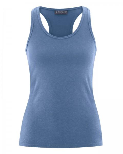Öko Sportkleidung- Bio Damen Tank Top Farbe Blueberry