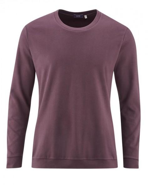 Unifarbener Herren Schlafanzug aus weichem Bio Baumwoll Jersey – 2teilig