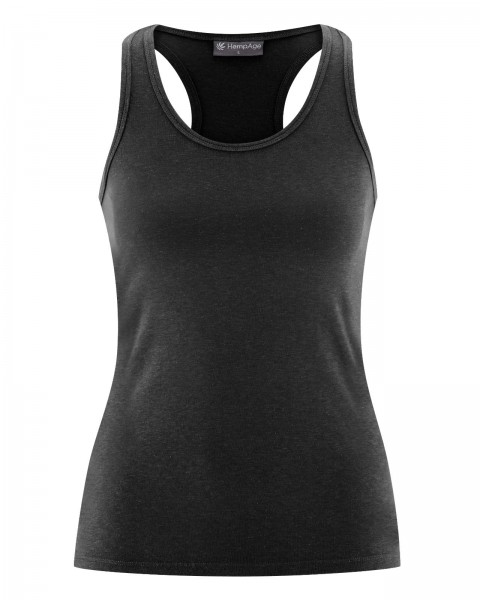 Damen Bio Tank Top in schwarz