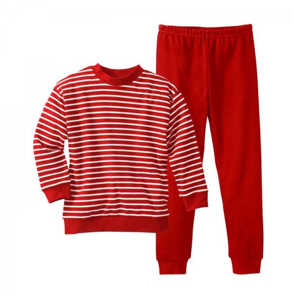 Living Crafts Kinder Schlafanzug rot-weiß gestreift
