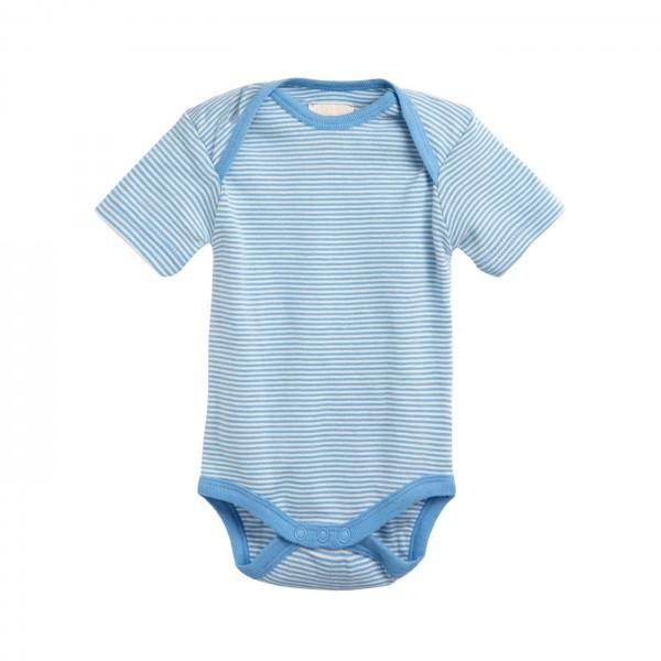 Baby Body aus Biobaumwolle Kurzarm - uni oder gestreift