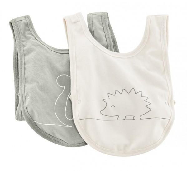 2er Pack Babylätzchen aus Biobaumwolle